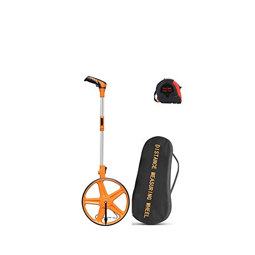 FLZOSPER Measuring Wheel Portable Three Fold 12.5-Inch Measures Up To 99,999.9 Feet Perfect surveying Tool For Distance Measurment