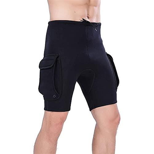 Männer Tauchanzüge, Neoprenanzug Shorts 3mm Neopren-Tauchshorts zum Schnorcheln, Surfen (Größe : XL)