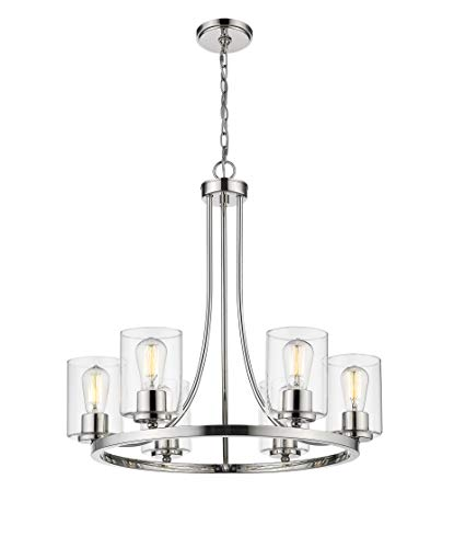 Ceiling Light Fixture Modern Chandeliers for Dining Rooms,Pendant Lighting for Living Room Foyer Hallway Entryway, D25' x H 25.25',Chandelier Light Fixture by Sunlighting