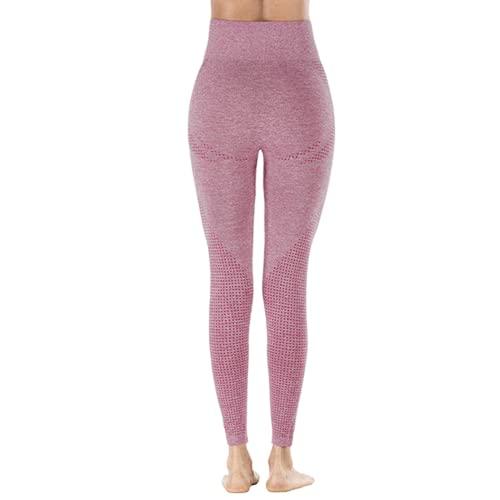 QTJY Pantalones de Yoga elásticos de Secado rápido para Mujer, Mallas Sexis para Levantar la Cadera, Pantalones Deportivos de Cintura Alta para Correr al Aire Libre KL