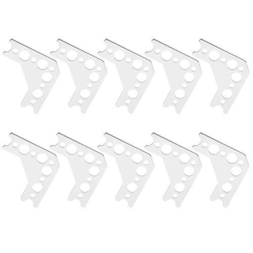 90 graden hoekverbindingsstuk 10st, 10 stuks kruisje 90 graden 7005 aluminium robotverbindingskruisje voor TETRIX PRIME Tetrixrobotics Pitsco Robot