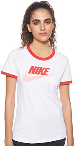 Nike Sportswear Ringer Camiseta en Color Blanco para Mujer