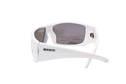 Ocean Sunglasses Brasilman Gafas de Sol, Unisex, Blanco (Blanco Brillo/Ahumada), Talla Única