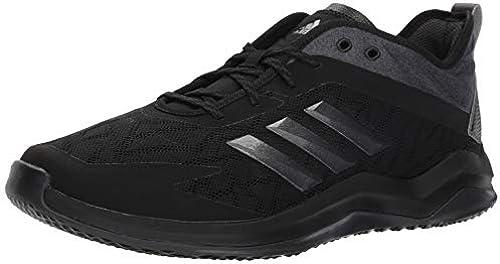 adidas Men& 039;s Speed Trainer 4 Baseball schuhe, schwarz Night Metallic Carbon, 8.5 M US