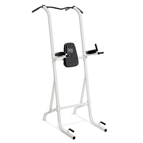 Marcy Pro Steel Power Tower Comfortable Multi-Grip Pull Up and Dip Station for Home and Gyms