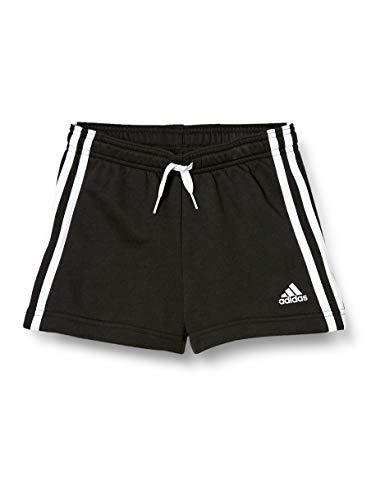 adidas Essentials 3-Streifen, Pantalones Cortos Niñas, Black/White, 104