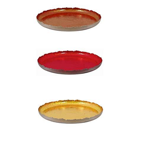 netproshop Dekoschale Teller antik gearbeitet Dekoteller Metall Auswahl Farben und Größen, Farbe:Kupfer, Auswahl:26 cm