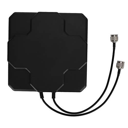Richtantenne, 4G LTE 18dBi krachtige vlakke richtantenne voor WLAN-router (zwart + N-stekker)