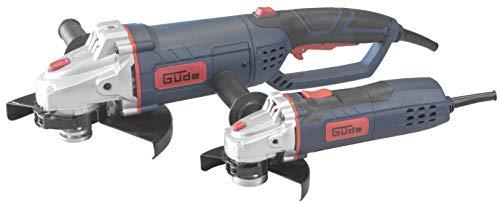 Güde 72086WS 125/2302piezas. Amoladora de ángulo set (230V, 2x amoladora de ángulo, 900/2350W, 31/65mm, profundidad de corte, M14rosca, sin disco)