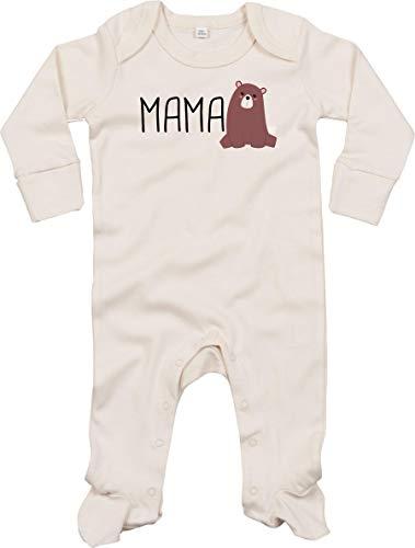 Sticker-tegel baby kinderpyjama rompertje slaaptrampler lange mouwen spreuken jongens meisjes met motief Mamabär Mama Beer