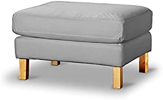 The Heavy Cotton Karlstad FootStool Cover Replacement Is Custom Made for Ikea Karlstad Ottoman, A Sofa Ottoman Slipcover Replacement (Light Gray Cotton)