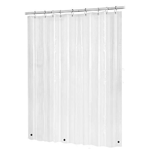 FeiliandaJJ 200x180 Duschvorhang Transparent,Badevorhänge Anti-Schimmel Wasserdicht Waschbar Anti-Bakteriell Badewanne Vorhang Shower Curtains, mit Sechs Taschen 12 Duschvorhangringen (A)