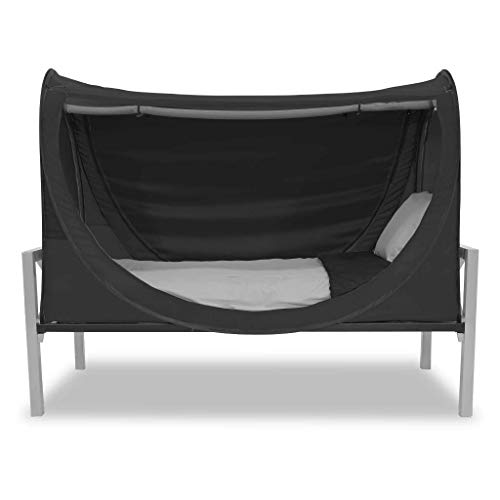 Privacy Pop Eclipse Bed Tent - Full/Black