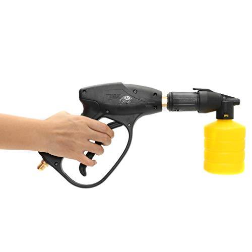 Draagbare hoge druk elektrische wasmachine wast pistool wassen pomp set geel