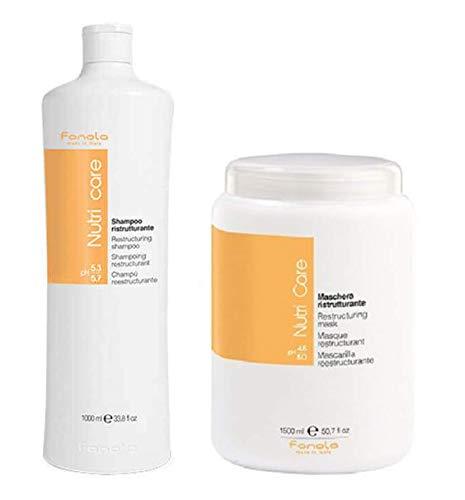 Fanola Nutricare Shampoo ristrutturante 1000 ml + Nutricare Maschera ristrutturante 1500 ml