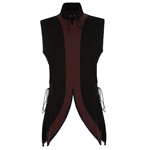 Herren Mittelalter Renaissance Ärmellos Kostüm Weste Retro Gothic Victorian Steampunk Coat Kostüm...