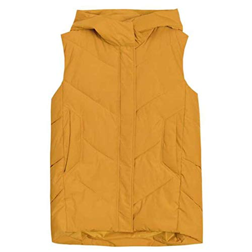Yuyudou Gilet Womens, Mouwloos Down Coat met Rits en Zak, Herfst/Winter Warm Puffer Coat Vest, Lichtgewicht Bovenkleding