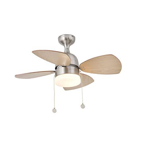 FARO BARCELONA 33706 - MEDITERRANEO Ventilador de Techo con luz níquel Mate