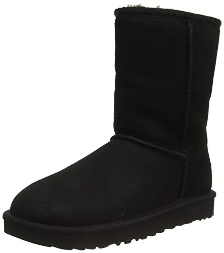 UGG Female Classic Short II Classic Boot, Black, 9 (UK)
