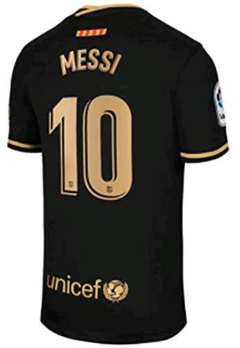 2020-2021 Season Men's Away Soccer Jersey/Short Colour Black (Barcelona Messi #10 (3XL))