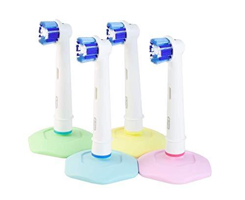 bHolder Zahnbürstenhalter für Elektrische Zahnbürste Köpfe, hygienischen, effektive Saugnapf, 4 Stück, gemacht in Schweden