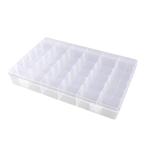 zhibeisai 36 Grids Adjustable Earrings Box Plastic Jewelry Bead Holder Fishing Hook Organizer Transparent Storage Container