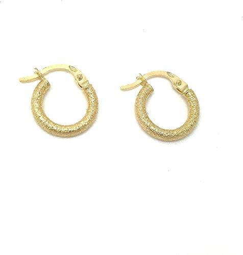 Kleine Gold Ohrringe Creolen aus 18 Karat 750 Gelbgold - PRI4A8
