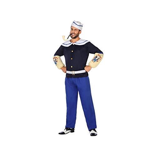 Atosa-54498 Atosa-54498-Disfraz Marinero-Adulto M a L-Hombre, Color azul (54498