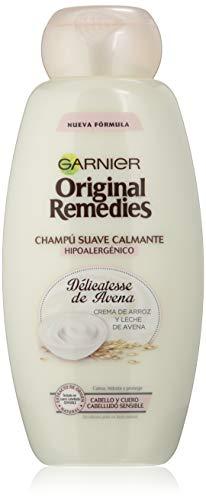 Garnier Original Remedies Delicatesse de Avena champú cuero cabelludo sensible, 600 ml
