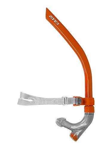 ZONE3 - Boccaglio da nuoto con parte anteriore, colore: Arancione/Grigio, taglia unica