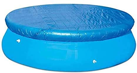 OLOPE Dust Pool Cover Protector, Solar Cover for Round Frame Pools, Pool Cover for Round Inflatable Swimming Pools Above Ground (10FT)
