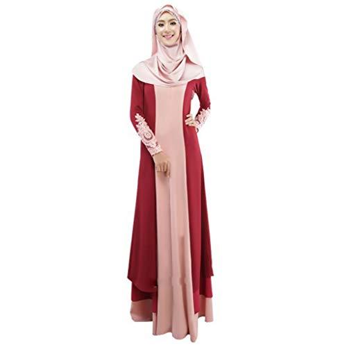 RISTHY Musulmana Vestidos Largos Suelta Color Empalme Musulmán Abaya Dubai Turquia de Invierno Maxi Vestido Islámica Árabe Kaftan Dubai para Las Mujeres Ropa Vestidos de Rayón