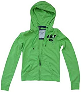 Abercrombie and Fitch Womens Full Zip Hoodie Lime Green Large