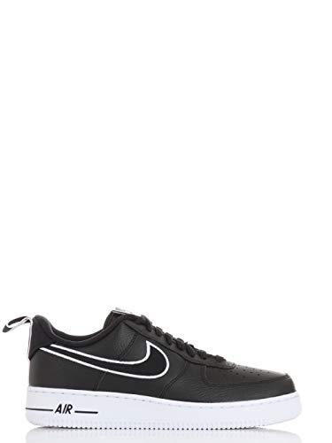 Nike Herren AIR Force 1 Basketballschuh, Schwarz und Weiß, 41 EU