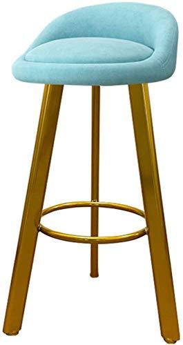LYYF Bar High Stef Taburetes, Silla giratoria con Respaldo Inicio Cocina Restaurante Cafetero Timbre Dormitorio Dormitorio Maquillaje Altura 75 cm 2127 (Color : E, Size : 75CM)