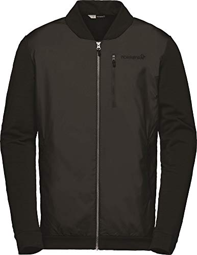 Norrona M Roldal Warmwool1 Jacket Schwarz, Herren Isolationsjacke, Größe M - Farbe Caviar