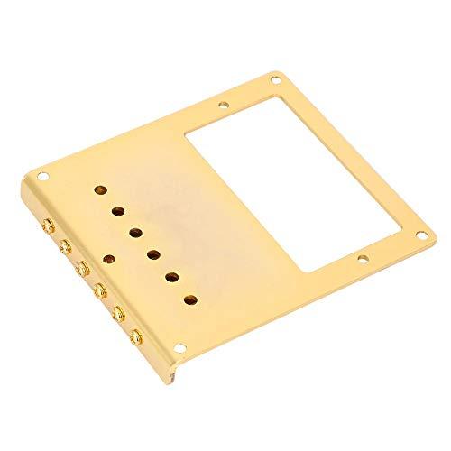 Alomejor Electric Guitar Bridge Pickup System Set with 5 Screws for TL Guitar Tailpiece Replacement (Gold Kaleidoscope)