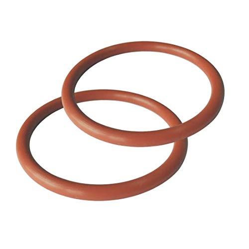 2 Pcs O-ring 50 mm x 62 mm x 6 mm | Fluorkautschuk - FKM/FPM Dichtung Gummidichtung Oring 50x6-80 ShA