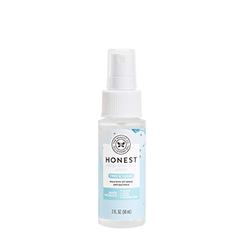 The Honest Company Hand Sanitizer Spray, Fragrance Free, 2 Fluid Ounce - Packaging May Vary