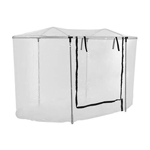 blumfeldt High Grow Top 160 - Gewächshaus-Aufsatz, Foliendach, Hochbeet-Dach, 160 x 115 x 80 cm, Stahlrohr, witterungsbeständig, PVC, für High Grow Hochbeete, inkl. Schrauben, transparent