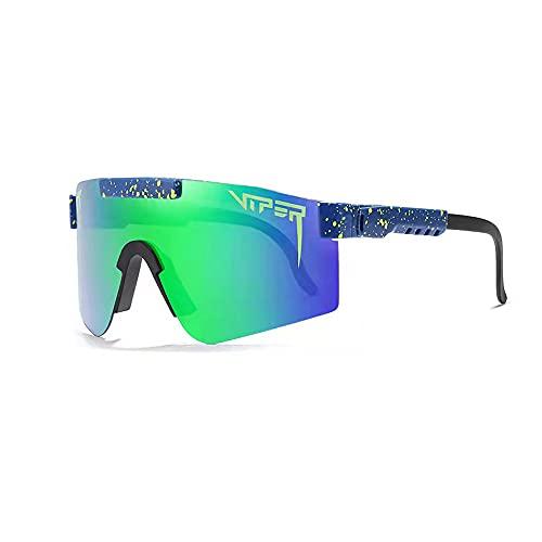 1 unids Pit-Viper Ciclismo Gafas de sol polarizadas para deportes al aire libre Gafas de sol Uv400 Víboras a prueba de viento para hombres y mujeres, C12,