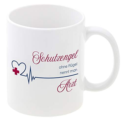 Tasse Engel ohne Flügel nennt Man Arzt (mit Personalsierung): Kaffeebecher mit Spruch und Name Bedruckt/personalisiert - persönliche Geschenkidee mit Gravur für Ärzte und Mediziner