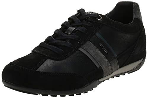 Geox U Wells C, Zapatillas Hombre, Negro (Black/Dk Jeans C9B4N), 41 EU