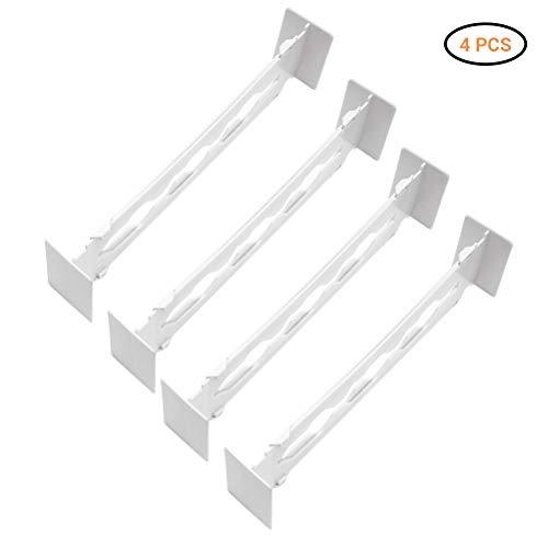 Divisores de cajones retráctiles de 4 piezas Divisor de cajones ajustable de usos múltiples Organizador de cocina de oficina en el hogar para dormitorio, baño, gabinete, cajón de bebé, escritorio