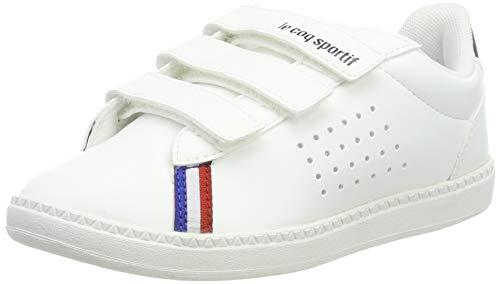 Le Coq Sportif Unisex Kinder COURTSTAR PS Sport BBR Optical White/DRE Sneaker, Weide, 34 EU