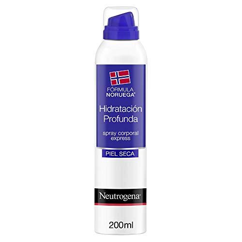 Neutrogena - Hidratación profunda, spray corporal express, para pieles secas, aplicación rápida y absorción al instante, 200 ml