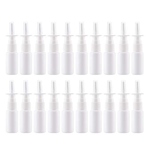 Artibetter 20pcs vaporisateur nasal en plastique rechargeable vaporisateur nasal (50ml)