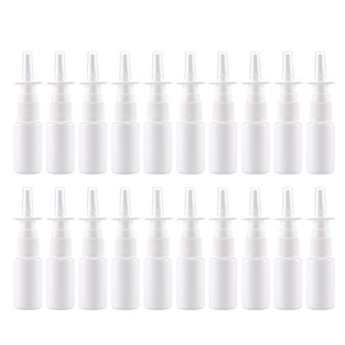 Supvox 20 st¡§?cke nasensprayer flasche nachf¡§?llbare pumpe sprayer container fl?schchen topf f¡§?r salzwasser waschen anwendungen bew?sserung (50 ml)