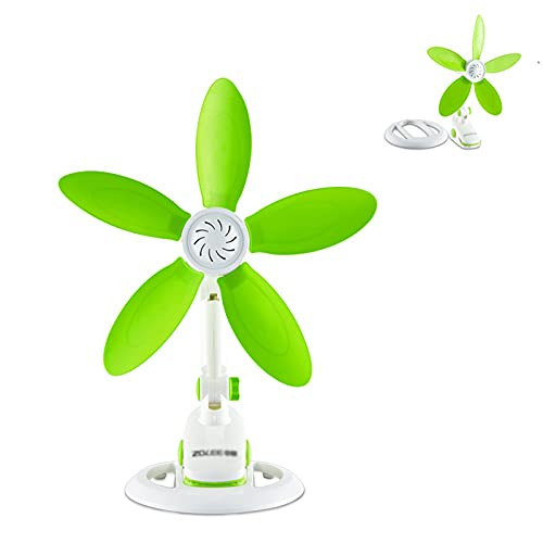 Ventilador de escritorio, mini ventilador de clip, pequeños ventiladores eléctricos, ventiladores de enfriamiento silenciosos personales, mini ventilador de enfriamiento silencioso, suave, seguro