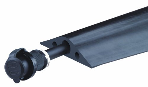 Powerback RFD9-5 Durable Rubber Heavy Duty Single Channel Duct Protector for Cable and Hose Lines up to 1.5